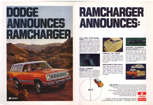 1974 Ramcharger Ad