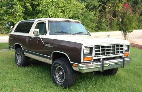 1983 Dodge Ramcharger 4x4 For Sale In Greer South