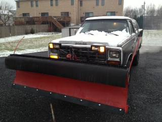 1985 dodge ramcharger 8 ft snow plow for sale in allentown. Cars Review. Best American Auto & Cars Review