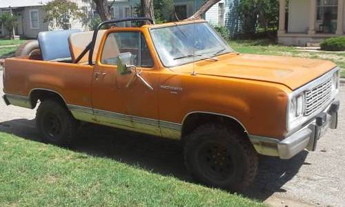 1977 Dodge Ramcharger For Sale or Trade in Abilene, Texas
