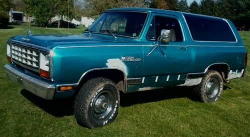 1981 Dodge Ramcharger 4x4 For Sale Mechanicsburg