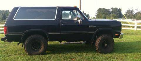 1991 dodge ramcharger 4x4 for sale in commerce athens ga 3 500 dodge ramcharger for sale