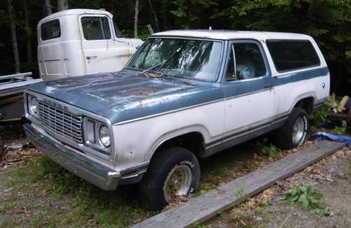 1977 Dodge Ramcharger Removable Top Auto For Sale in