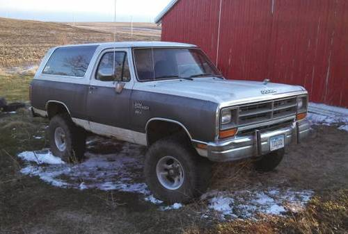 1988 Dodge Ramcharger 5.9 V8 360 Bored to 368 For Sale Des Moines, IA