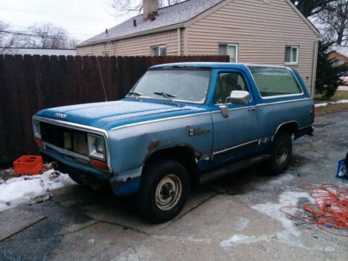 1989 Dodge Ramcharger 318 For Sale in Warren MI