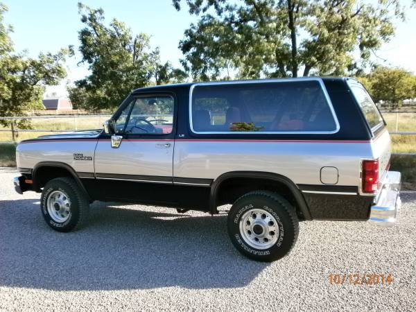 1991 Dodge Ramcharger 4x4 Se For Sale In Roswell Nm
