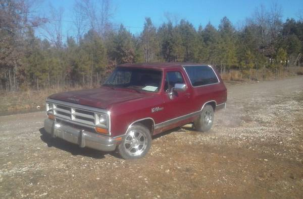 1988 dodge ramcharger v8 auto for sale in little rock ar